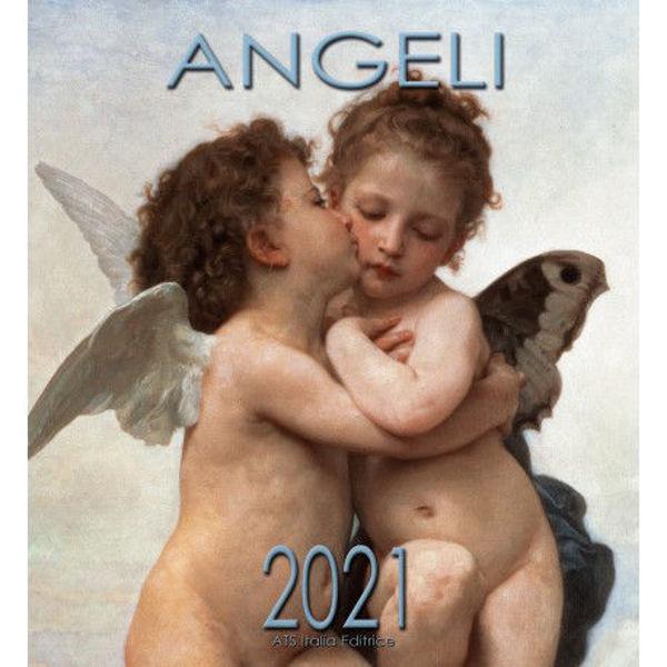 Imagen de Angels First Kiss 2021 wall Calendar cm 32x34 (12,6x13,4 in)