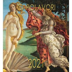 Imagen de Meisterwerke der italienischen Kunst Wand-kalender 2021 cm 32x34