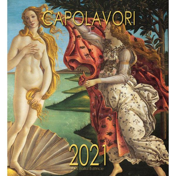 Picture of Meisterwerke der italienischen Kunst Wand-kalender 2021 cm 32x34