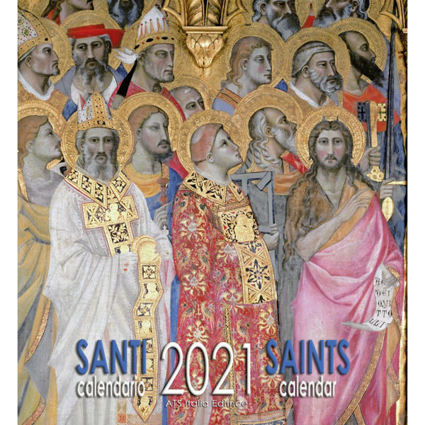 Picture of Saints 2021 wall Calendar cm 32x34 (12,6x13,4 in)