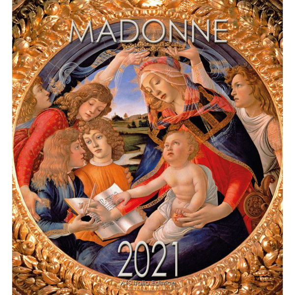 Picture of Madonna with Child wall Calendar  2021 cm 32x34 (12,6x13,4 in)