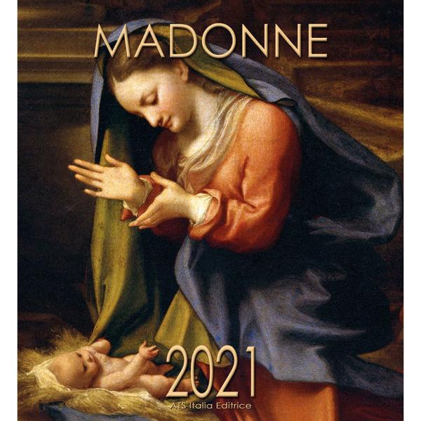 Imagen de Virgen con Niño Correggio Calendario de pared 2021 cm 32x34 (12,6x13,4 in)