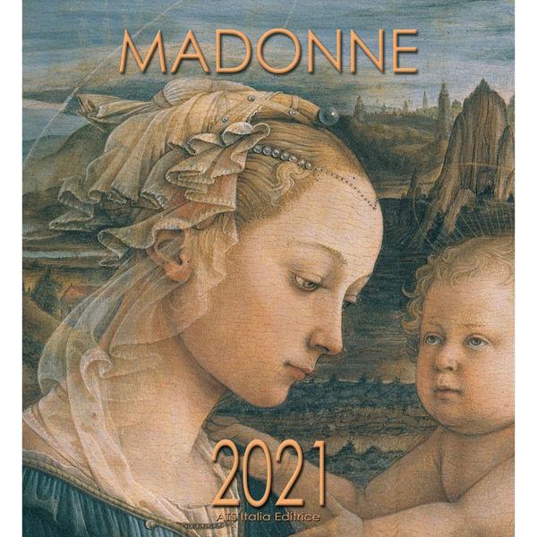 Picture of Virgen con Niño Lippi Calendario de pared 2021 cm 32x34 (12,6x13,4 in)