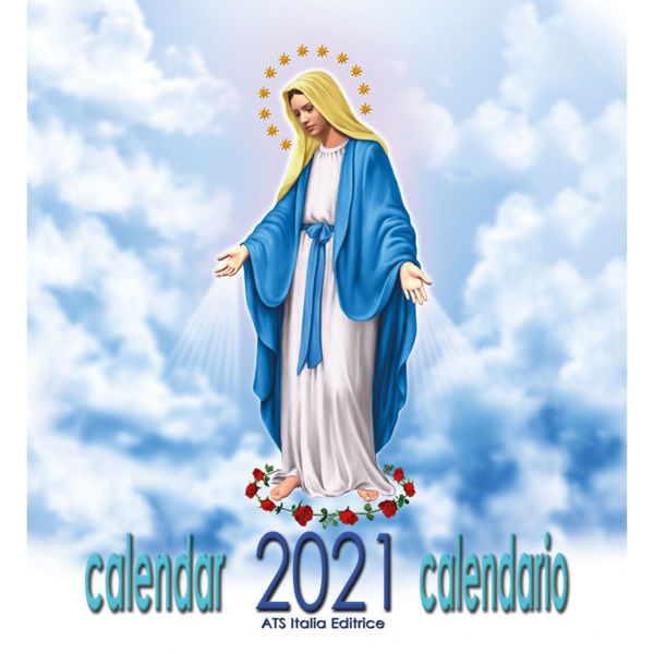 Picture of Virgin Mary drawings 2021 wall Calendar cm 32x34 (12,6x13,4 in)