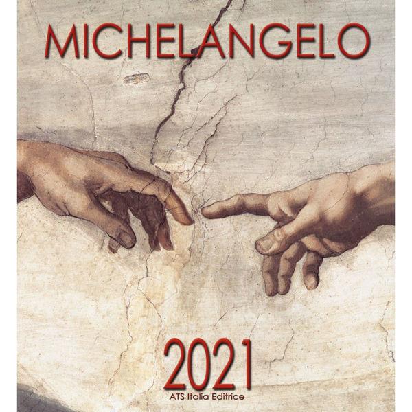 Imagen de Miguel Ángel Calendario de pared 2021 cm 32x34 (12,6x13,4 in)