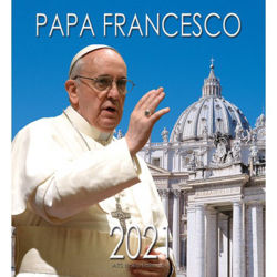 Immagine di Papa Francisco Basilica de San Pedro Calendario de pared 2021 cm 32x34 (12,6x13,4 in)
