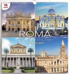 Imagen de Great Basilicas in Rome 2021 wall Calendar cm 31x33 (12,2x13 in)