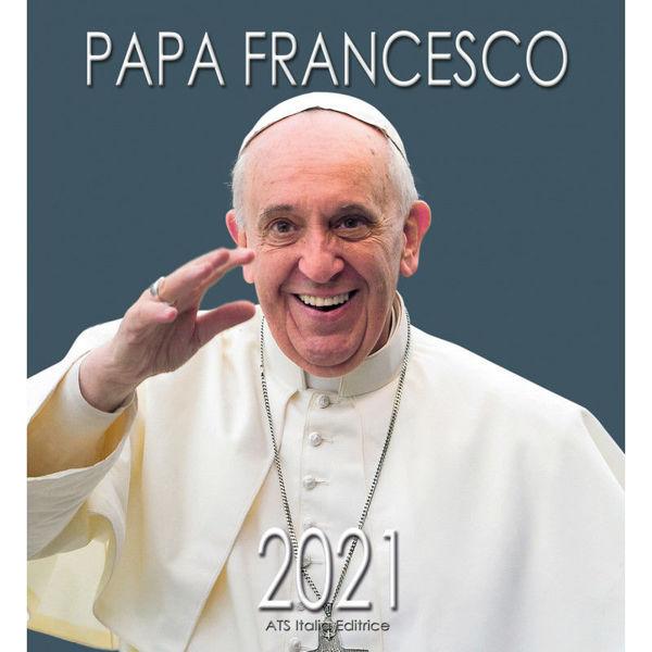 Immagine di Papa Francisco (2) Calendario de pared 2021 cm 32x34 (12,6x13,4 in)