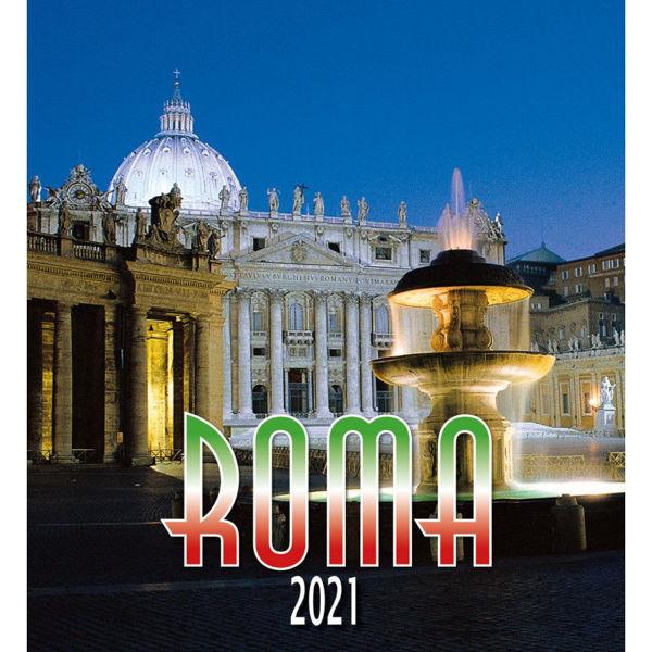 Imagen de Calendario da muro 2021 Roma San Pietro by night cm 32x34