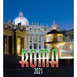 Immagine di Roma de noche Calendario de pared 2021 cm 32x34 (12,6x13,4 in)