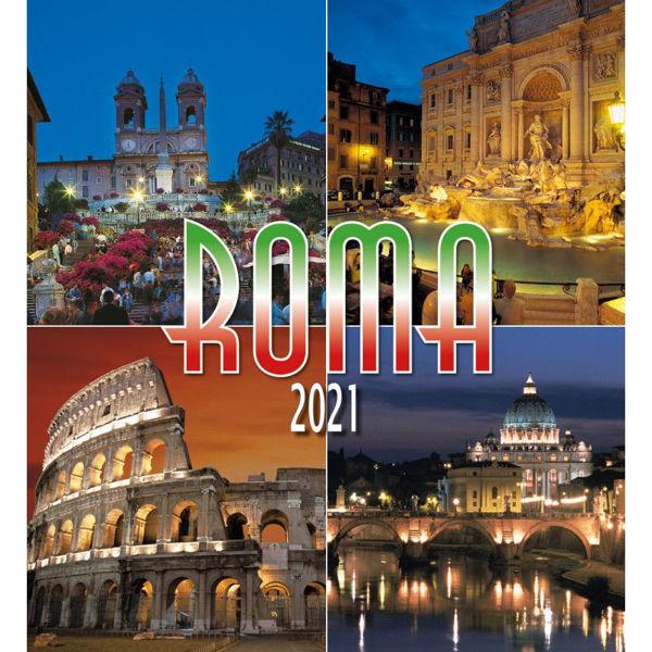 Picture of Roma de noche Calendario de pared 2021 cm 32x34 (12,6x13,4 in) (2)