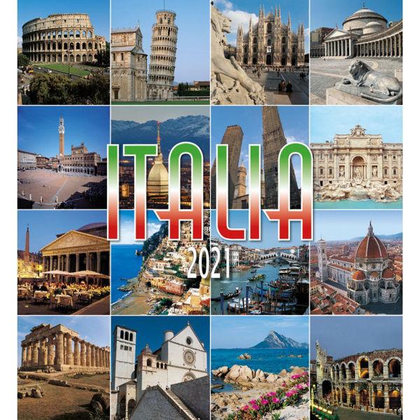 Picture of Italia Calendario de pared 2021 cm 32x34 (12,6x13,4 in)
