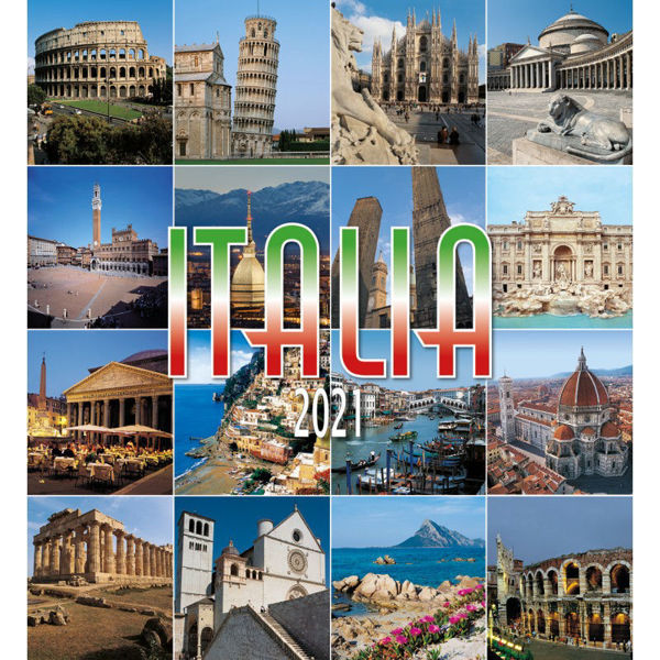 Picture of Italy 2021 wall Calendar cm 32x34 (12,6x13,4 in)