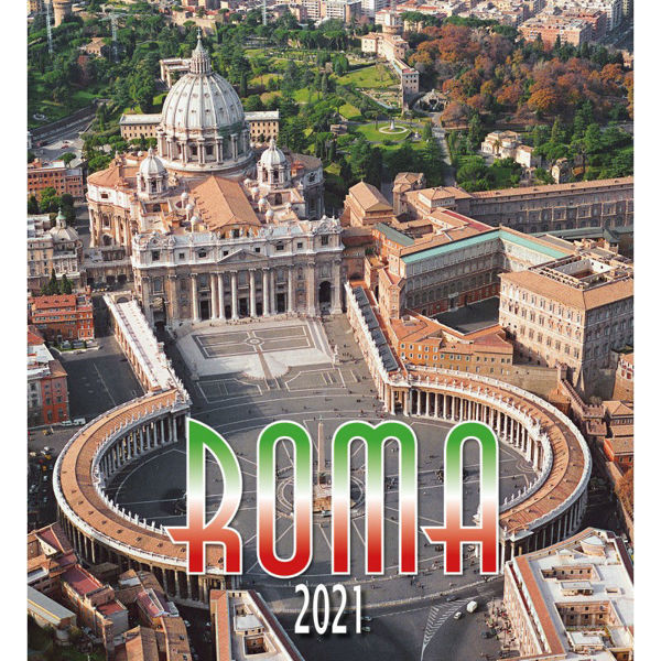 Imagen de Rome by day 2021 wall Calendar cm 32x34 (12,6x13,4 in)