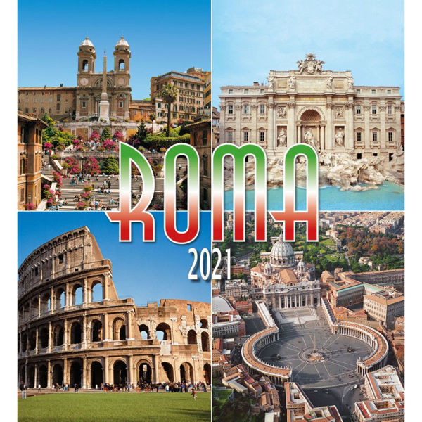 Immagine di Rome by day 2021 wall Calendar cm 32x34 (12,6x13,4 in) (2)