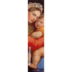 Imagen de Virgin Mary in Art 2021 wall Calendar cm 11x49 (4,3x19,3 in)