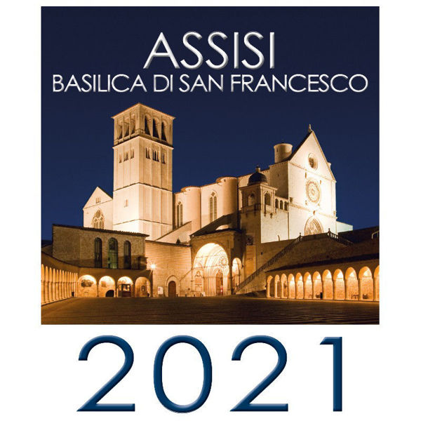 Immagine di Assisi 2021 Basilica of Saint Francis wall Calendar cm 16x17 (6,3x6,7 in)