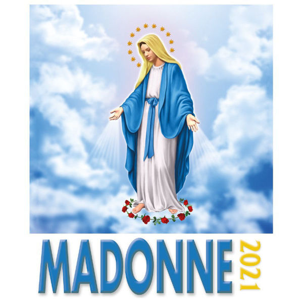 Imagen de Calendario da tavolo e da muro 2021 Vergine Maria  in disegno cm 16x17