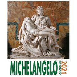 Picture of Michelangelo scultore Calendario da tavolo e da muro 2021 cm 16x17