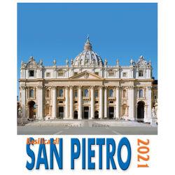 Picture of Calendario da tavolo e da muro 2021 Basilica di San Pietro Roma Vaticano cm 16x17