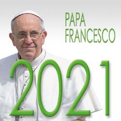 Immagine di Calendario da tavolo 2021 Papa Francesco cm 8x8