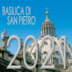 Imagen de Basilica di San Pietro Roma Vaticano Calendario da tavolo 2021 cm 8x8