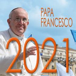 Picture of Calendario da tavolo 2021 Papa Francesco San Pietro cm 8x8