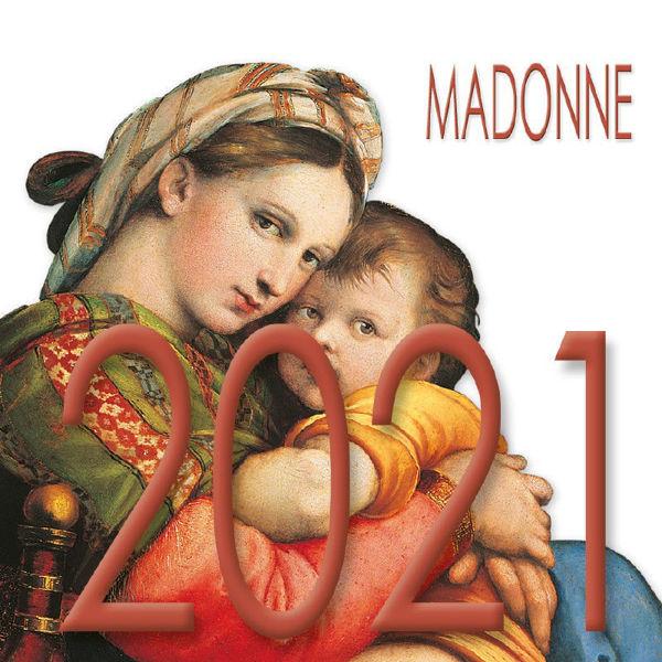 Imagen de Calendario da tavolo 2021 Madonne cm 8x8