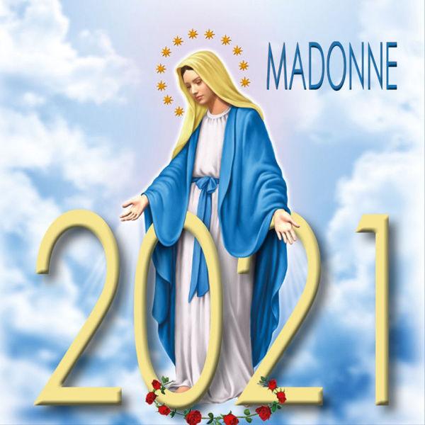Imagen de Calendario da tavolo 2021 Vergine Maria in disegno cm 8x8