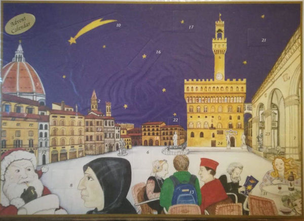 Immagine di Calendario dell' Avvento Natale Firenze Piazza della Signoria 22x30 cm
