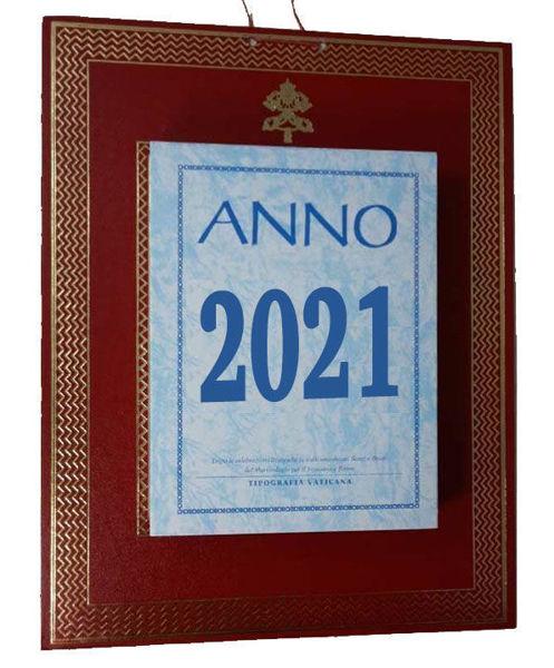 Imagen de Daily wall / desk block calendar 2021 tear off pages Tipografia Vaticana Vatican Typography