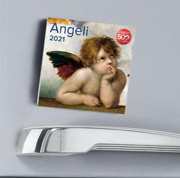 Imagen de Angels 2021 magnetic calendar cm 8x8 (3,1x3,1 in)