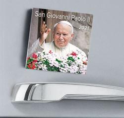Picture of St. John Paul II 2021 magnetic calendar cm 8x8 (3,1x3,1 in)