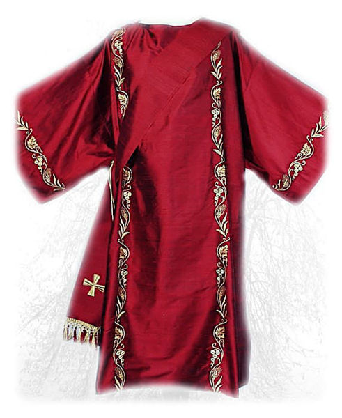 Picture of Dalmatic Ramage Embroidery Spikes Grapes Pure Wool White Red Green Violet Gold Light Blue