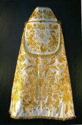 Picture of Liturgical Roman Cope Baroque Embroidery Satin White Red Green Violet Gold Light Blue