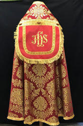 Picture of Liturgical Roman Cope baroque laminate Gold Galloon White Red Green Violet Gold Light Blue