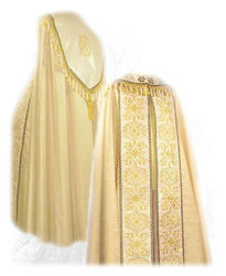 Picture of Liturgical Diaconal cope Gold and Black Trimming Vatican Canvas White Red Green Violet Gold Light Blue