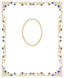 Imagen de PERSONALIZADO Estandarte Mariano cm 85x104 (33,4x40,9 inch) Bordado Floral Oro y Colores Satén