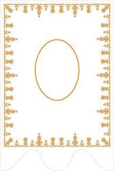 Imagen de PERSONALIZADO Estandarte Procesional cm 70x104 (27,5x40,9 inch) Bordado Oro Satén