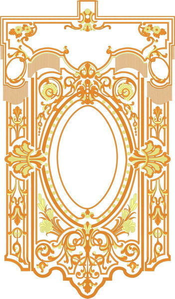 Picture of CUSTOMIZED Processional Banner cm 70x92 (27,5x36,2 inch) Gold Embroidery Satin