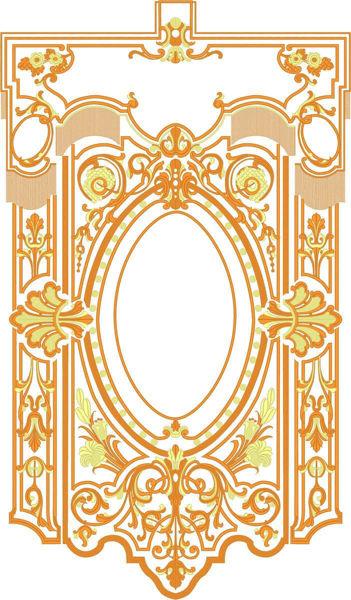 Imagen de PERSONALIZADO Estandarte Procesional cm 70x92 (27,5x36,2 inch) Bordado Dos tonos de Oro Satén