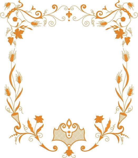 Imagen de PERSONALIZADO Estandarte Procesional cm 88x101 (34,6x39,7 inch) Bordado Oro Hojas y Espigas Satén