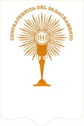 Imagen de PERSONALIZADO Estandarte de la Confraternidad cm 90x120 (35,4x47,2 inch) Bordado Oro Satén