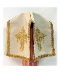 Picture of Ciborium Veil Cross Embroidery Satin White Red Green Violet