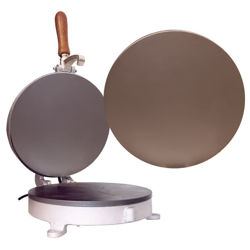 Picture of Altar Bread manual baking machine smooth plate cm 32,0 (12,6 inch) cast iron for Holy Mass Communion Hosts wafer
