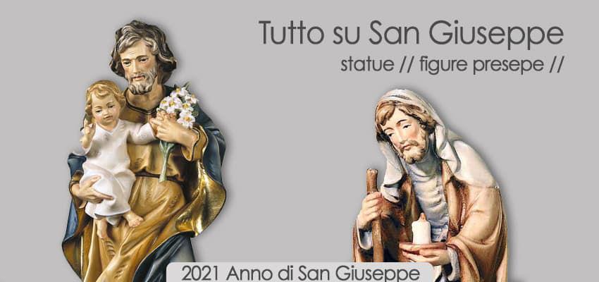 Tutto su San Giuseppe - Statue Sculture Presepe