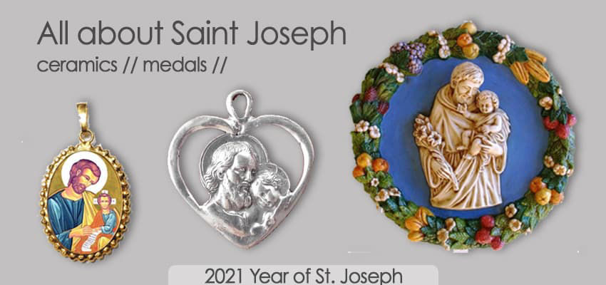 All about Saint Joseph - ceramics & medals