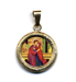Picture of The embrace of the newlyweds St Anne and St. Joachim Gold plated Silver and Porcelain round Pendant Diam mm 19 (075 inch) Unisex Woman Man