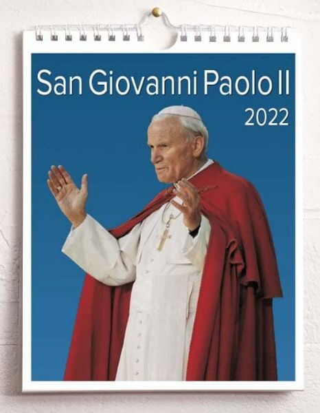 Immagine di Calendario da tavolo e da muro 2022 San Giovanni Paolo II Papa cm 16,5x21