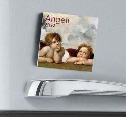 Imagen de Angels 2022 magnetic calendar cm 8x8 (3,1x3,1 in)